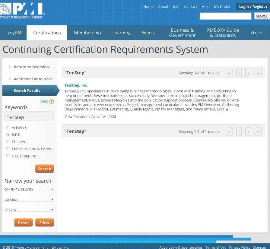 آموزش مورد تایید PMI